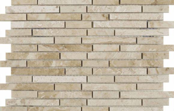 Vaniglia Cream Polished Marble Mix length mosaic