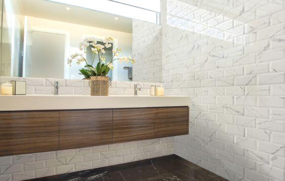 Alpen white marble effect wall tile