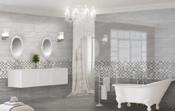 New Lusso Grey marble effect tile