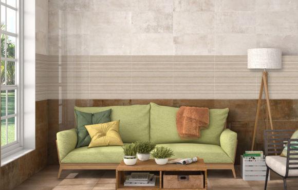 Press metallic effect Ceramic wall tile